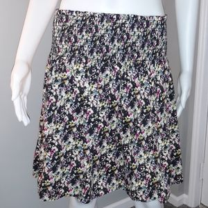 H&M Women's M Water Color Floral Skirt Casual